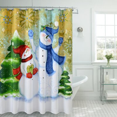 Christmas Greetings Sweetie Shower Curtain