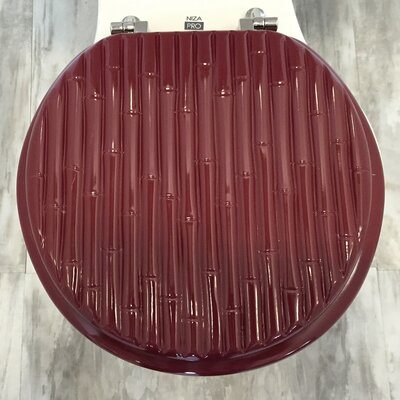 Molded Wood Round Toilet Seat Finish: Bamboo Burgundy