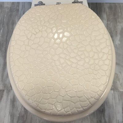 Molded Wood Round Toilet Seat Finish: Stone Beige