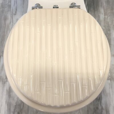 Molded Wood Round Toilet Seat Finish: Bamboo Beige