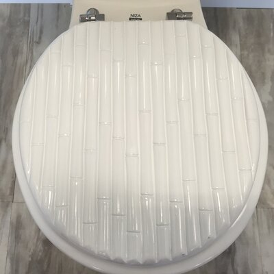 Molded Wood Round Toilet Seat Finish: Bamboo White