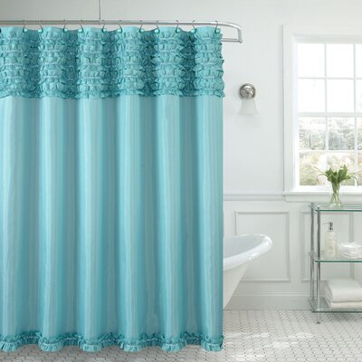Roderick Spa Shower Curtain Color: Aqua