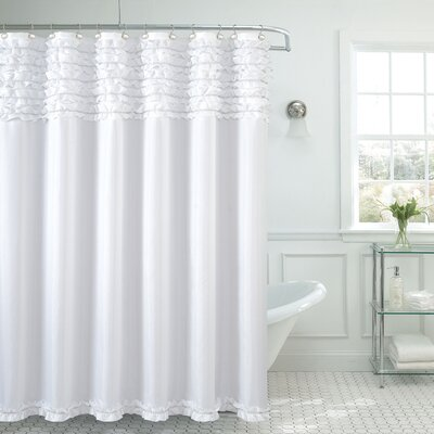 Roderick Spa Shower Curtain Color: White
