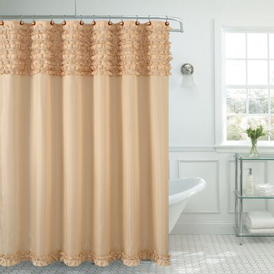 Roderick Spa Shower Curtain Color: Beige