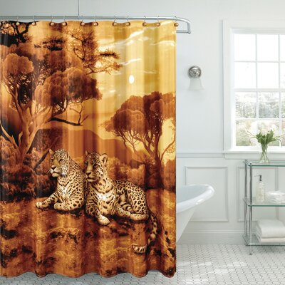 Cheetah print shower curtain 2