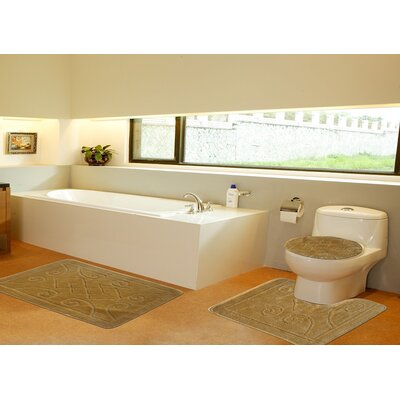 3 Piece Twist Bath Rug Set Size: 20 H x 32 W, Color: Gold