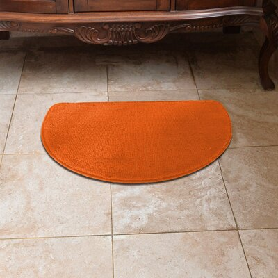 Luxury Slice Kitchen Mat Color: Orange
