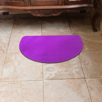 Luxury Slice Kitchen Mat Color: Purple