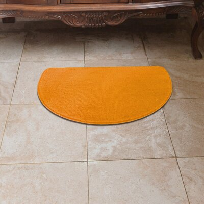 Luxury Slice Kitchen Mat Color: Peach