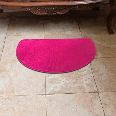 Luxury Slice Kitchen Mat Color: Hot Pink