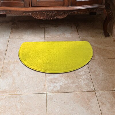 Luxury Slice Kitchen Mat Color: Yellow