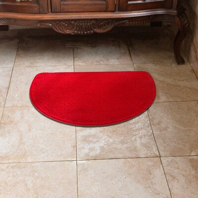 Luxury Slice Kitchen Mat Color: Red