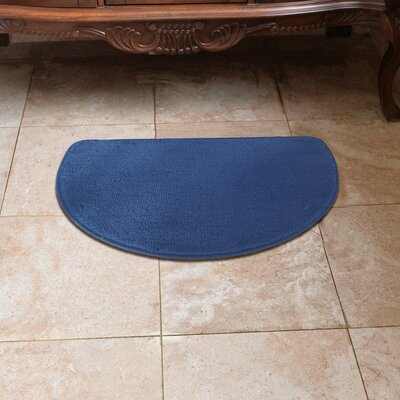 Luxury Slice Kitchen Mat Color: Navy Blue