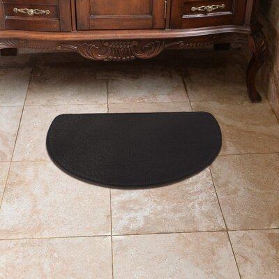 Luxury Slice Kitchen Mat Color: Black