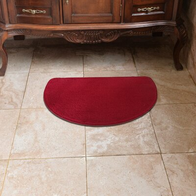 Luxury Slice Kitchen Mat Color: Burgundy