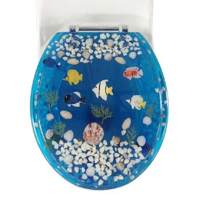 Fish Round Toilet Seat Color: Blue
