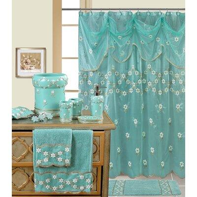 Decorative Shower Curtain Color: Aqua