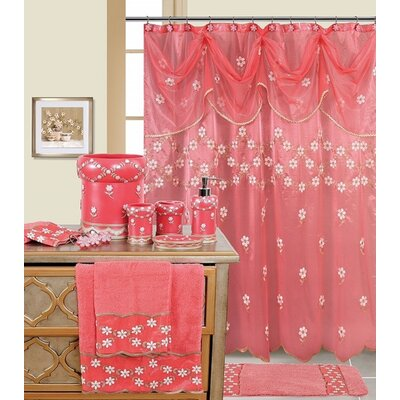 Decorative Shower Curtain Color: Raspberry