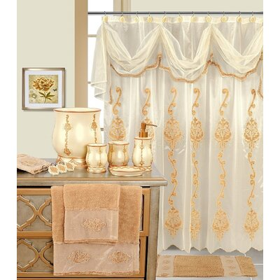 Decorative Shower Curtain Color: Beige