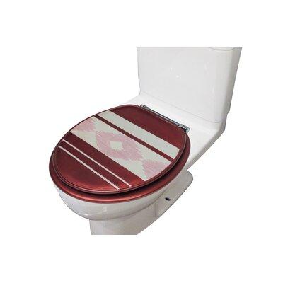 Restrepo Decorative Round Toilet Seat Color: Red