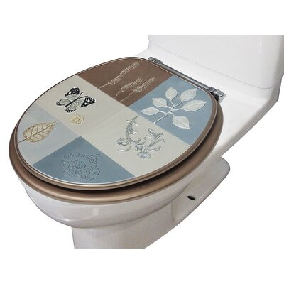 Butterfly Decorative Round Toilet Seat