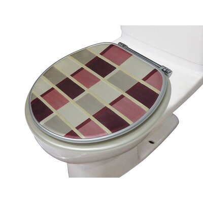 Madison Decorative Round Toilet Seat Color: Green