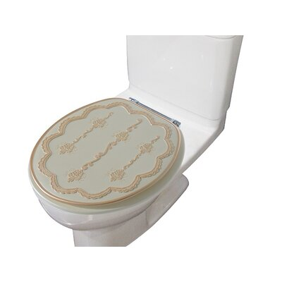 Embassy Decorative Round Toilet Seat Color: Beige