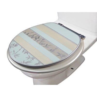 Florine Decorative Round Toilet Seat Color: Aqua
