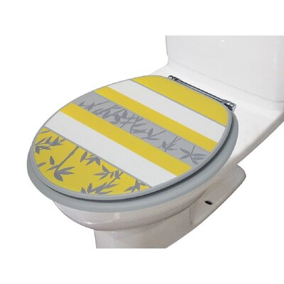 Florine Decorative Round Toilet Seat Color: Yellow