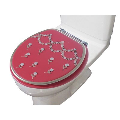 Maya Decorative Round Toilet Seat Color: Raspberry