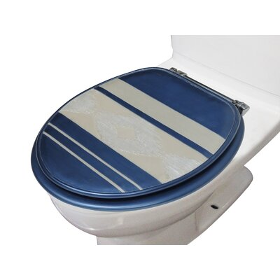 Restrepo Decorative Round Toilet Seat Color: Blue