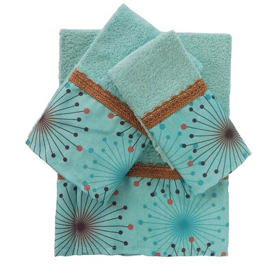 Dante Decorative 3 Piece Towel Set Color: Aqua Blue