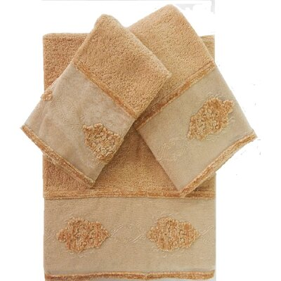 Isaiah Decorative 3 Piece Towel Set Color: Beige