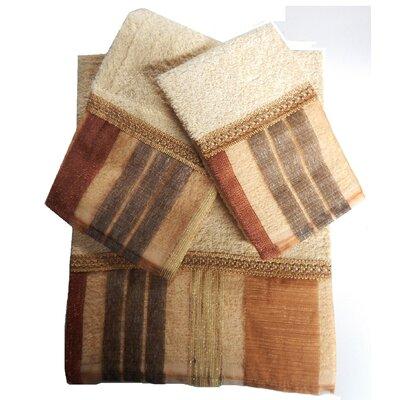 Elisa Decorative 3 Piece Towel Set Color: Rust