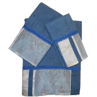 Restrepo Decorative 3 Piece Towel Set Color: Blue