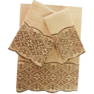 Vivian Decorative 3 Piece Towel Set