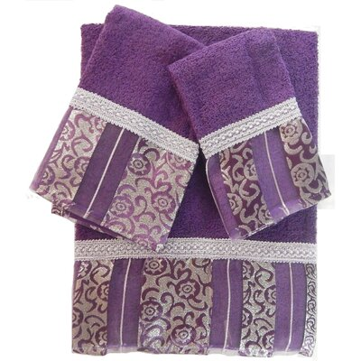 Denis Decorative 3 Piece Towel Set