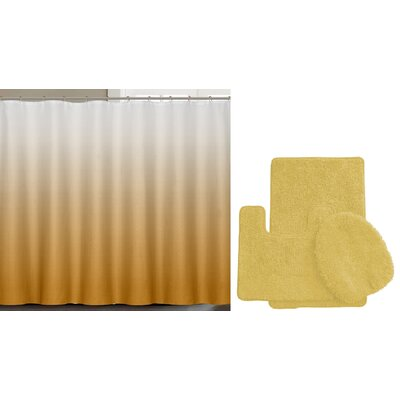 Spring Shower Curtain Set Color: Flaxen Yellow