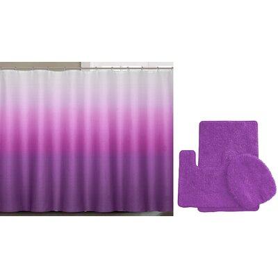 Spring Shower Curtain Set Color: Purple