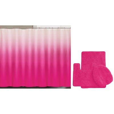 Spring Shower Curtain Set Color: Pink