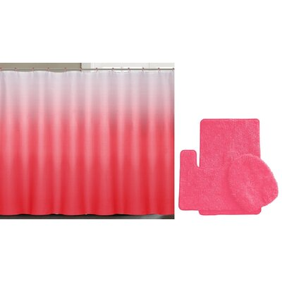 Spring Shower Curtain Set Color: Light Red