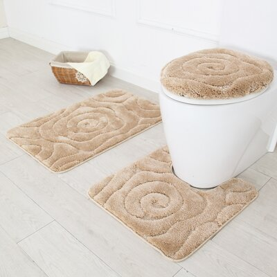 Prestige 3 Piece Bath Rug Set Color: Beige