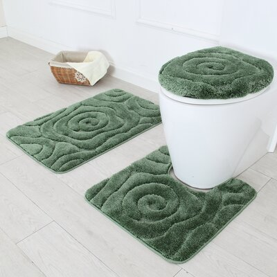 Prestige 3 Piece Bath Rug Set Color: Sage