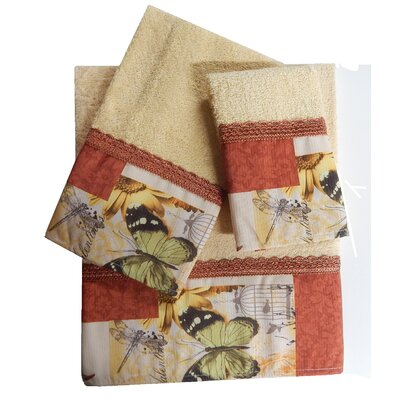 Decorative 3 Piece Towel Set Finish: Rust