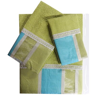 Decorative 3 Piece Towel Set Finish: Turquoise
