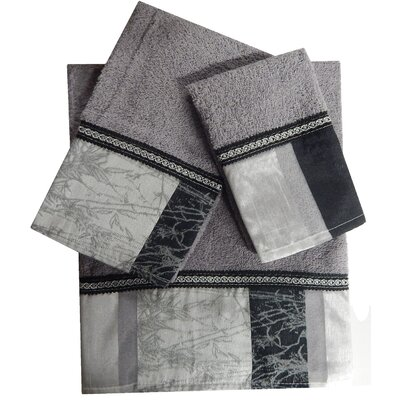 Decorative 3 Piece Towel Set Finish: Gray