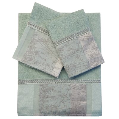 Decorative 3 Piece Towel Set Finish: Aqua