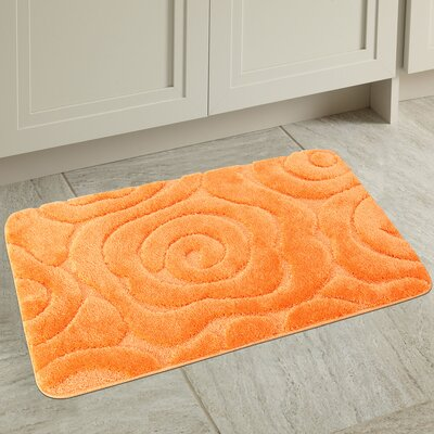 Prestige Spa Bath Rug Color: Orange