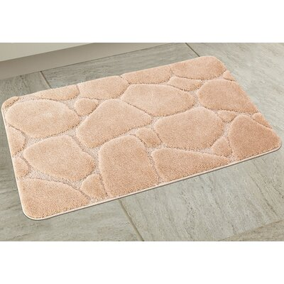 Elegant River Rock Bath Rug Color: Beige