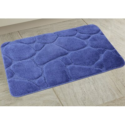 Elegant River Rock Bath Rug Color: Blue